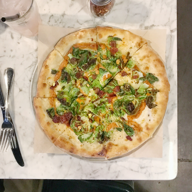 Brussels Sprout Pizza at Doughbird in Phoenix