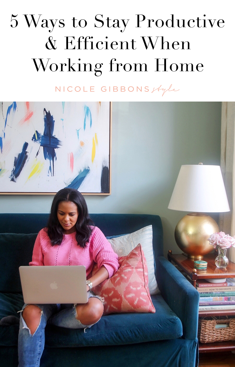 5 Ways to Stay Productive Working From Home