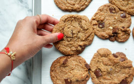 Healthyish Vegan Chocolate Chip Cookies-11