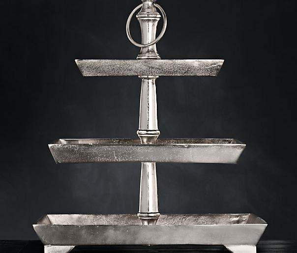 Grand Brasserie Cast Aluminum Tiered Rectangular Stand