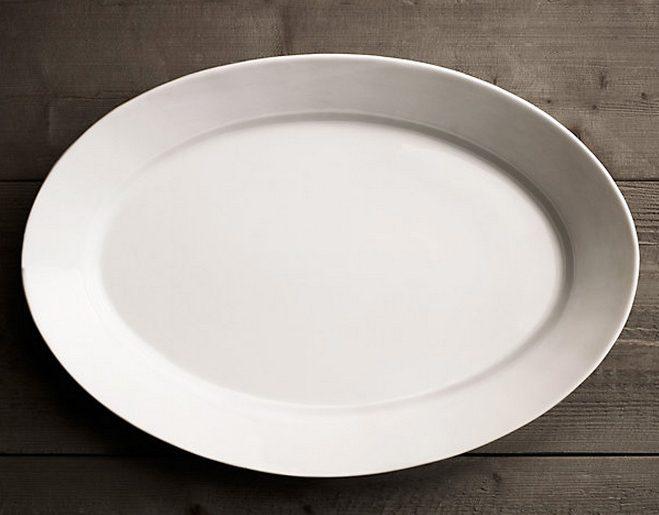 Stoneware Grand Rimmed Oval Platter