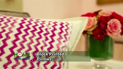 DIY Block Printed Pillows