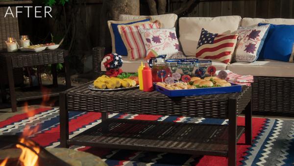 An Americana Themed Backyard Makeover - With Pier 1 | sohautestyle.com